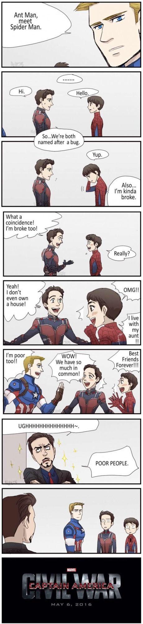 Captain America - Civil War Scenario - Ant-man - Spider-Man - Captain America - Ironman