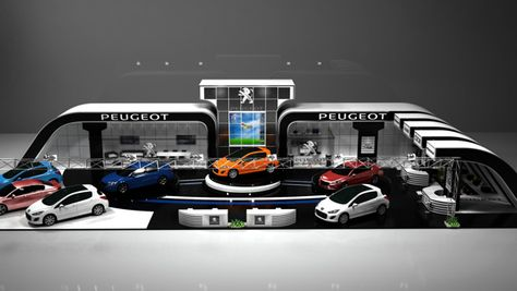 Peug. Cars Exhibition by Ahmed Rashad, via Behance