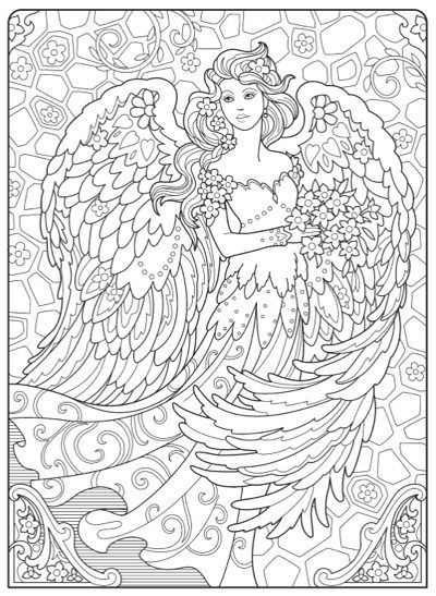 Hottest New Coloring Books: January 2018 Roundup Angel Coloring Pages,  Abstract Coloring Pages, Coloring Pages