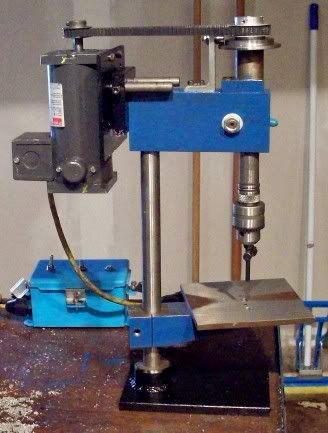 Drill Press Base Plate by pursang -- Homemade base plate for a drill