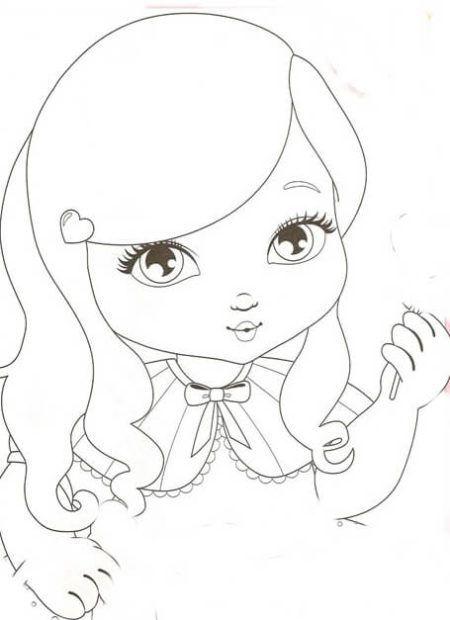 Desenhos De Bonecas Para Colorir Diversao Para Meninas