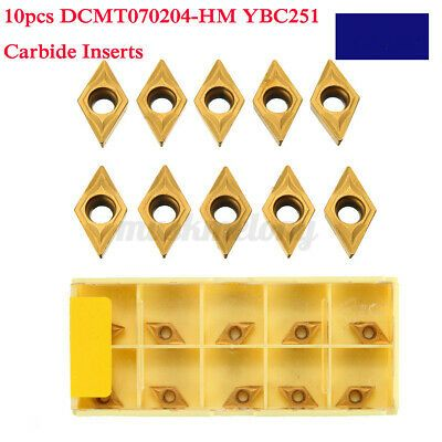 10pcs Carbide Inserts Cutter For Dcmt070204 Ybc251 Lathe Turning Tool Holder In 2020 Tool Holder Turning Tools Metal Working Tools