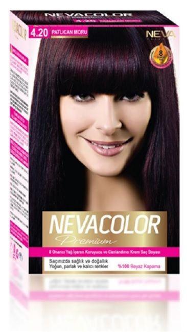 Nevacolor Premium Sac Boyasi 4 20 Patlican Moru Sac Boyasi Sac Mor