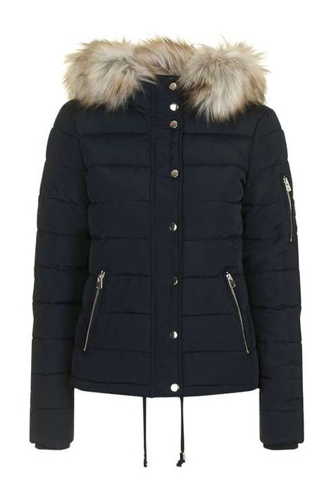 PETITE Quilted Puffer Jacket   Topshop