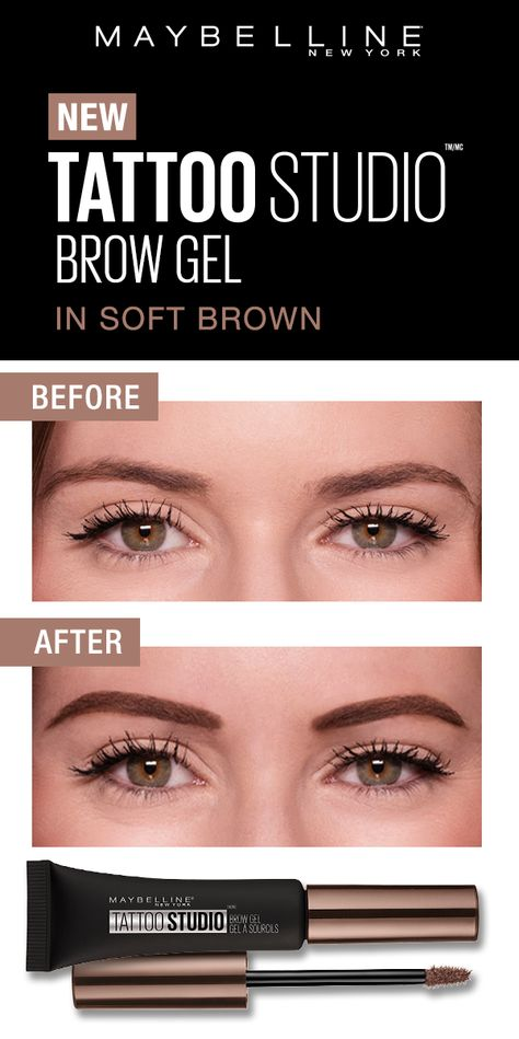 Tattoo Studio Waterproof Eyebrow Gel Creates Fuller Looking Definition That Last For Days Fill And Color You Waterproof Eyebrow Eyebrow Gel How To Do Eyebrows