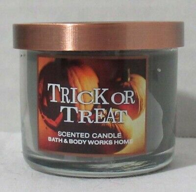 Ketchum Idaho Trick Or Treating Halloween 2020 Bath & and Body Works Home 1.3 oz 10 hrs Mini Candle TRICK OR