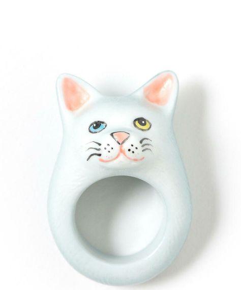 Magic Metal Scared White OMG Cat Brooch Funny Kitty Pin MA06 Fashion Jewelry
