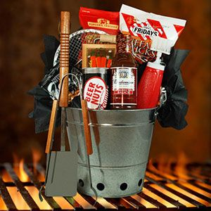 Barbecue Gift Basket | Barbecues, Basket raffle and Gift