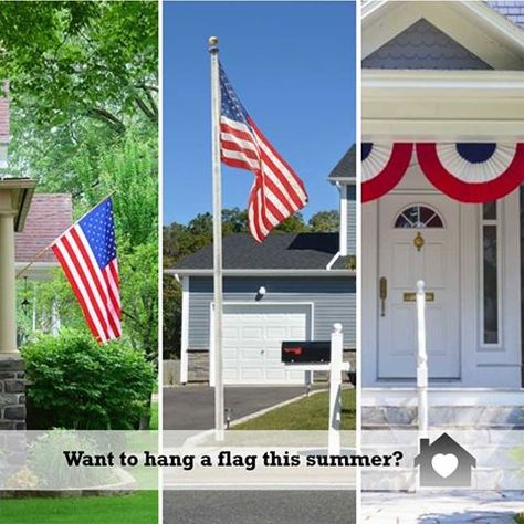 Tips For Hanging A Flag On Your House Home Hacks Hanging