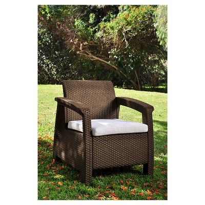 Corfu Resin Patio Armchair With Cushion