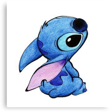 Cute Stitch Canvas Print By Pascalinak Stitch Drawing Cute Disney Drawings Cute Stitch
