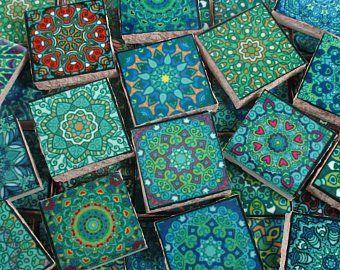 Goede Keramische mozaïek tegels Multi gekleurde medaillons (met UD-39