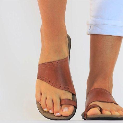 Brown Brown Flats, Brown Sandals, Leather Sandals, Gladiator Sandals, Bohemian Sandals, Summer Flats, Shops, Designer Sandals, Comfortable Sandals