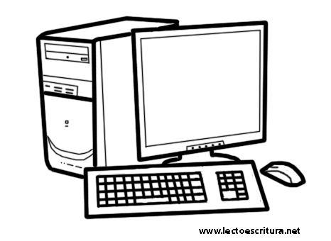 Dibujos De Computadoras Para Imprimir Y Pintar Colorear Imagenes Computer Lab Lessons Computer Learning Technology Posters