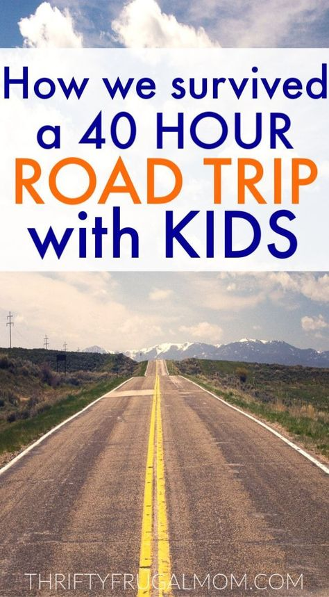 How We Survived a 40 Hour Family Road Trip with Kids