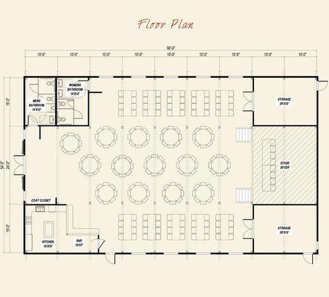 Pre Designed Event Center Ponderosa Country Barn Main Floor Plan Layout Hotel Floor Plan Floor Plan Layout Barn Layout