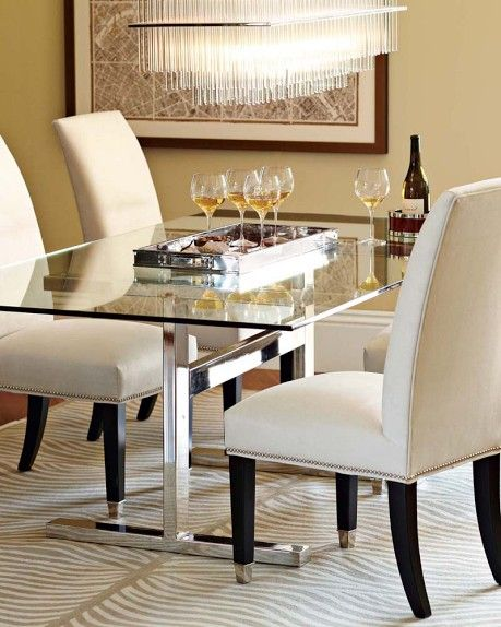 Mercer Dining Table Medium Seats 6 Large Seats 8 Extra Large Seats 10 1 550 1 995 40 Off Elegant Dinning Room Dinning Room Chairs Side Chairs