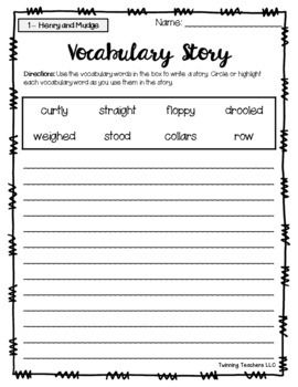 2nd Grade Journeys Vocabulary - Writing Activity LESSONS 1 ...