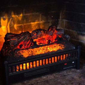 Surprising Electric Log Insert Sku Plow Hearth Realistic Fireplace Logs Interior Design Ideas Tzicisoteloinfo