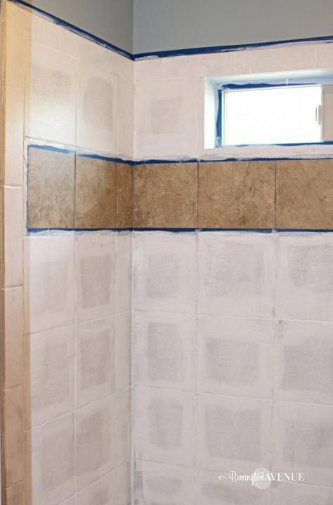 How To Paint Shower Tile Painting Bathroom Tiles Painting Tile