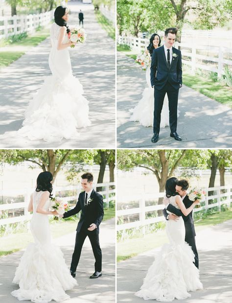 first look - Brendon and Sarah Urie oh gosh so adorable