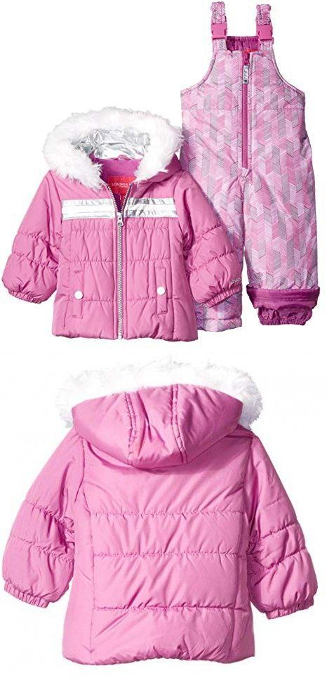 Pink London Fog Baby Girls Ruffle Puffer