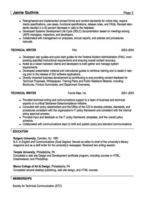 Technical Writer Resume Sample  HttpResumesdesignCom
