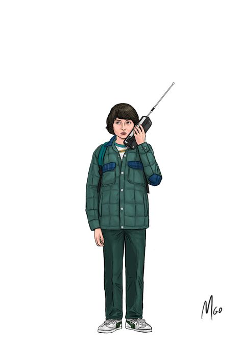 Page 01 of Stranger Things S1 Characters illustrated by MGO