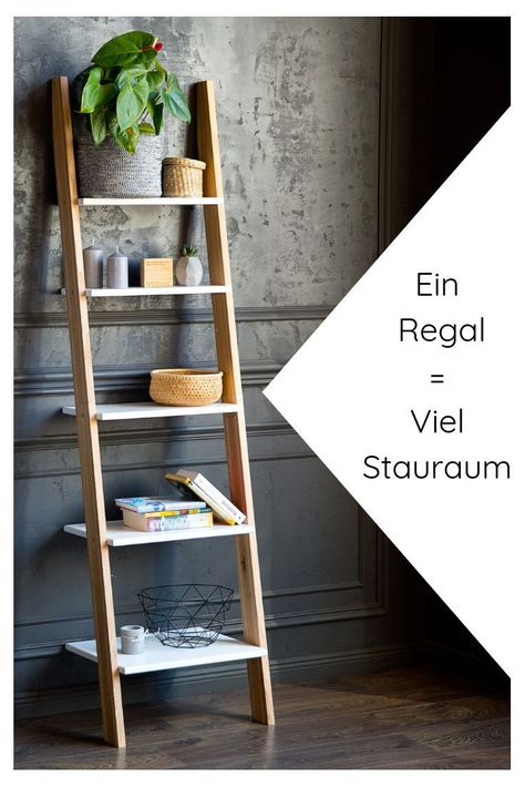 Unglaublich Leiterregal Holz In Modernen Farben Online Kaufen