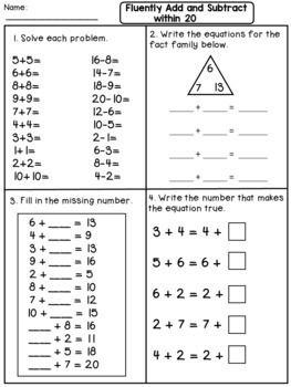 Addition And Subtraction Second Grade Math Worksheets 2nd Grade Math Worksheets Math Worksheets 3rd Grade Math Worksheets