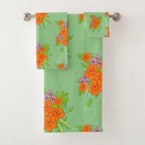 Sage Green Bathroom Towel Set Zazzle Com In 2020 Green Bathroom Towel Set Towel Set Bathroom