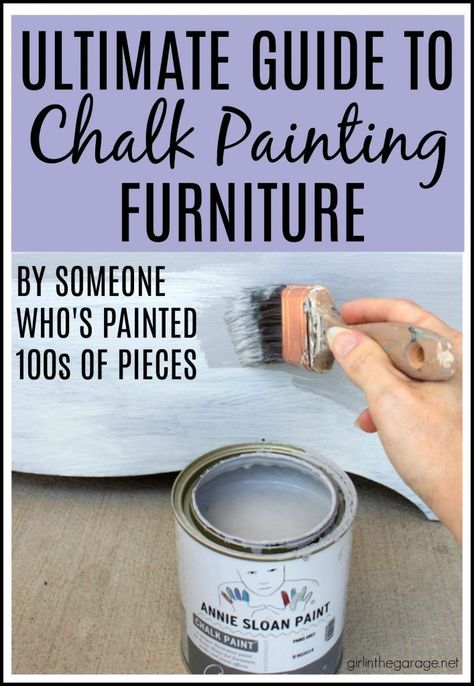 How to Chalk Paint Furniture - Easy DIY Chalk Painting Guide for Beginners - D .How to Chalk Furniture - Simple Guide to Chalk Painting for Beginners - Girl in the Garage DIY Furniture Makeover Chalk Paint Wax, Using Chalk Paint, White Chalk Paint, Chalk Paint Colors Furniture, Best Chalk Paint, Chalk Paint Tutorial, Chalk Paint Dresser, Distressing With Chalk Paint, Paint For Wood