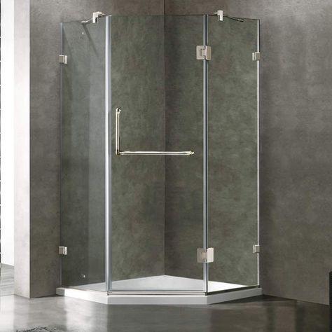 Vigo Vg606240ws Neo Angle Shower Frameless Shower Enclosures Shower Enclosure