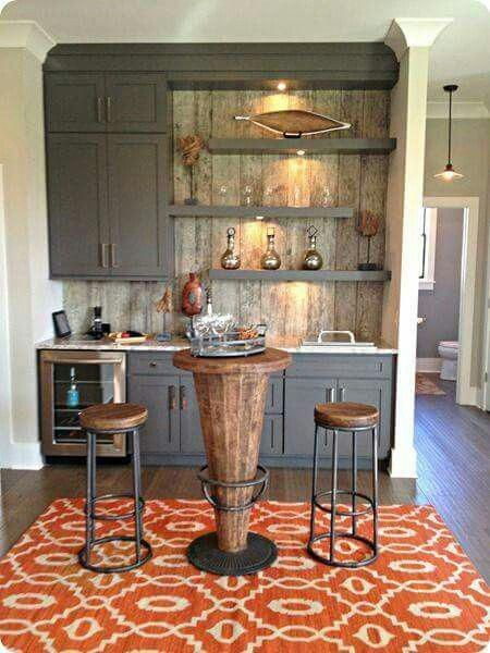 Love This Idea Is There Is Extra Space In Dining Or Living Area Separate Beverage Bar From Kitchen Ho Outdoor Kitchen Appliances Kitchen Remodel New Kitchen