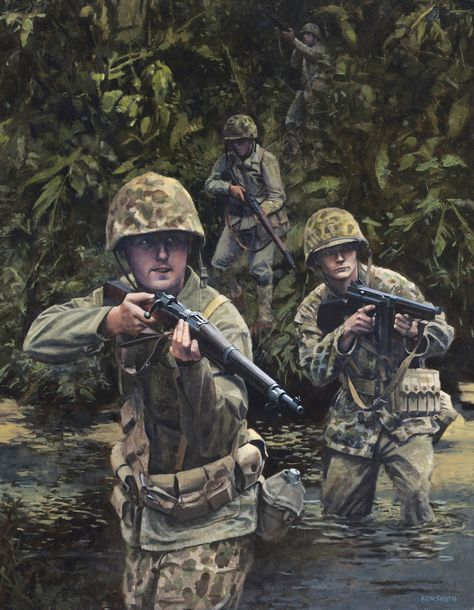 American Marines in the Pacific Theater