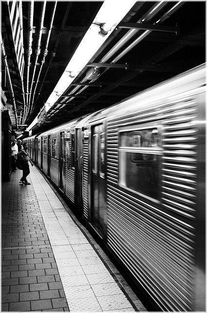 Aesthetic Black White New York Subway White Photography Nyc Subway