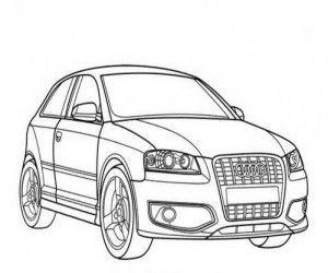 Ausmalbilder Audi A3 Vw Art Lowrider Drawings Car Drawings