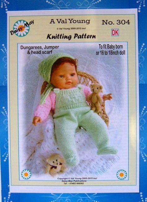 267 for BABYBORN DOLLS KNITTING PATTERN no By Daisy May