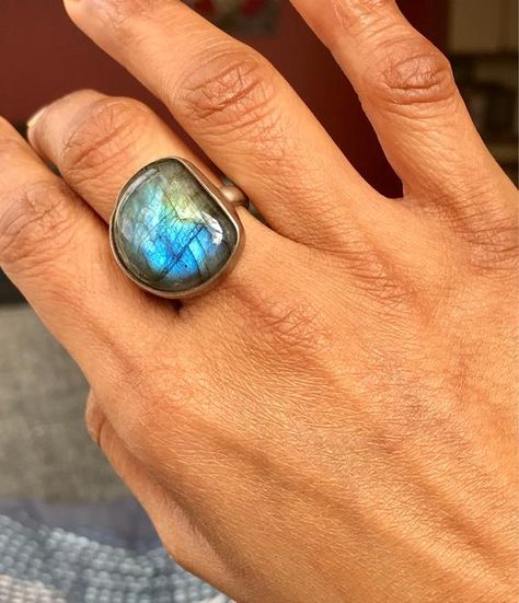 Labradorit Ring blau Labradorit Aussage Edelstein Ring 925 | Etsy