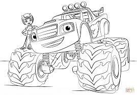 Blaze Monster Truck Colouring Pages To Print Check More At Https