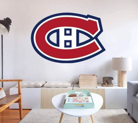 Peel-N-Stick Decal: Montreal Canadians Hockey Logo. Our decals are removable and guaranteed not to damage the walls when removed. The decal can be repositioned many times. This is an indoor decal, ideal for smooth walls. Will not stick to textured paint. This is a fabric non-toxic decal that comes in many sizes. Highly durable! Stick to many surfaces. Will not tear or wrinkle. Tons of other logos available