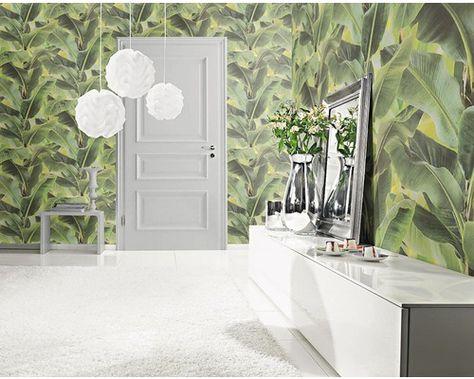 Vliestapete African Queen II Floral grün bei HORNBACH kaufen - wohnzimmer tapete grun