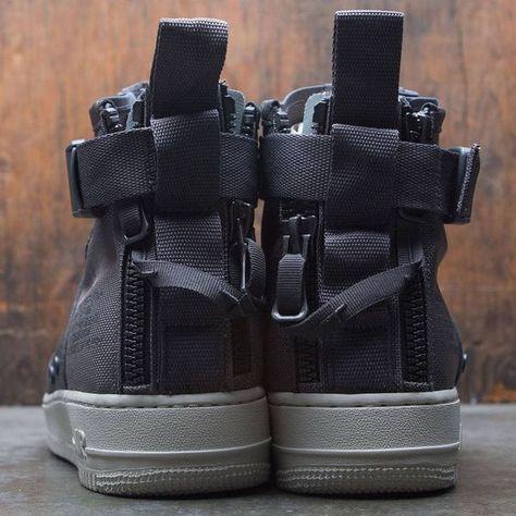 Nike Men Sf Air Force 1 Mid (dark grey dark grey light