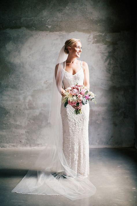 Elsa Gown from @BHLDN | via style me pretty | #BHLDNbride