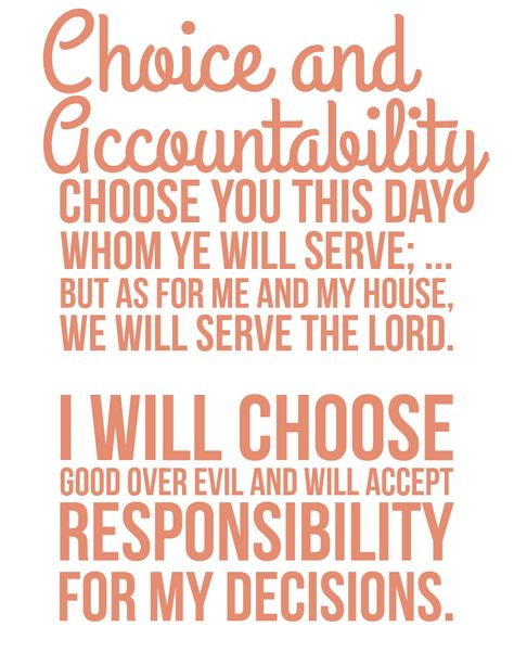 The Personal Progress Helper Choice And Accountability Personal Progress Saint Quotes Lds Quotes