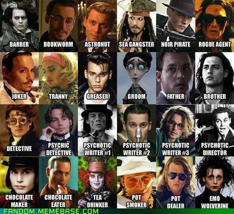 Johnny Depp...love Brother! Or maybe Emo Wolverine,  or maybe Barber, or Gangster