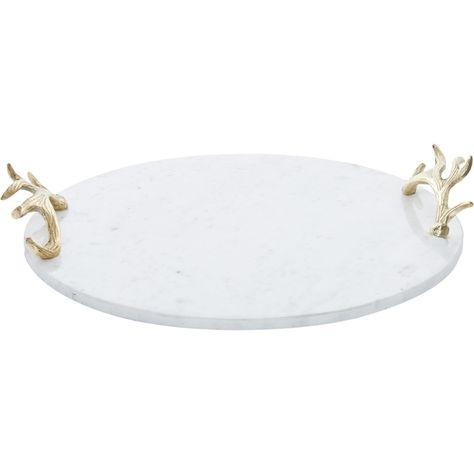 White Marble Antler Tray 41cm Tk Maxx Tk Maxx Bedroom