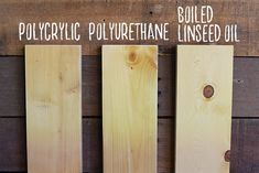 Polyurethane vs Polycrylic vs Boiled Linseed Oil - How to