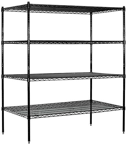Salsbury Industries Stationary Wire Shelving Unit 60inch Wide By 63inch High By 24inch Deep Black You Salsbury Industries Wire Shelving