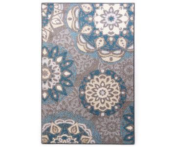 Living Colors Austin Blue Gray Medallion Area Rug 7 X 10 Accent Rugs Rugs Rug Deals